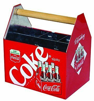 The Tin Box Company 772377-12 Coca Cola Large Galvanized Utensil Holder