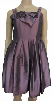 Dunnes Young Girls Evening Purple Bow Dress, Wedding, Occasion, Christening