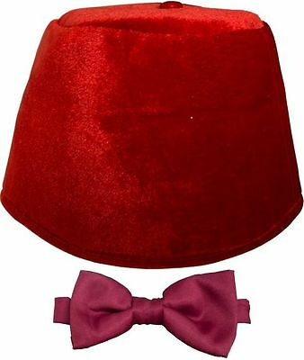 *NEW* Dr 11th Doctor Who - Matt Smith - Red Fez and Bow Tie Set Costume Licenced