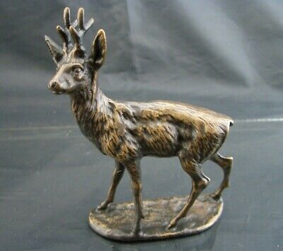 """BRITANNIA BRONZE Figure - YOUNG BUCK / STAG (3.5"""")- Boxed - Lovely Gift - BBM020"""