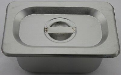Stainless Steel Bain Marie Tray & Lid, 1/9 Size 100mm