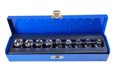 Bergen 9pc 1/2 Female Torx E-TRX Star Socket Set B1130