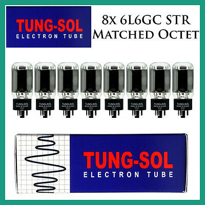 New 8x Tung-Sol 6L6GC STR / 6L6   Matched Octet / Eight Tubes   Free Ship