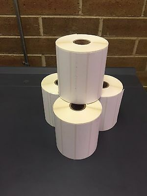 "4 Rolls of 4"" x 1"" Labels 1375 Direct Thermal for Zebra or Eltron Printers 5500"