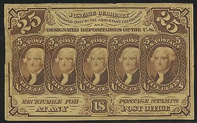 FR1282 25¢ ABNCo MONOGRAM XF (APP.) WITH REPAIRED EDGE FRACTIONAL NOTE BT373