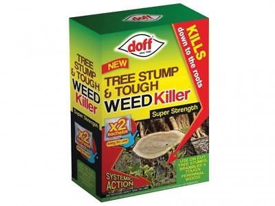 Doff New Tree Stump & Tough Weedkiller 2 x 100ml Sachet Pack Garden Weedkiller