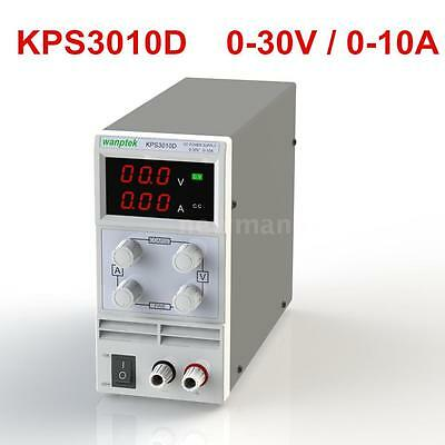 30V 10A Variable Adjustable Precision Digital DC Power Supply Dual LED new