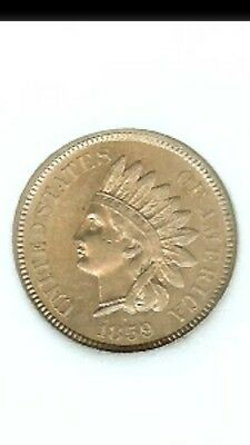 1859 indian head Cent penny Uncirculated