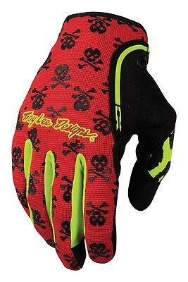 New Troy Lee Designs Tld Xc Anarchy Mx Dirt Bike Motocross Gloves Red All Sizes