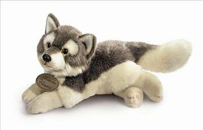 "Yomiko Classics realistic Husky Wolf Soft NEW Plush Animal 12"" NEW NWT"