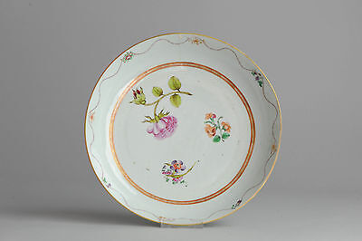 Top Quality!! Qianlong Period LArge Famille Rose Plate Chinese Qing Antique