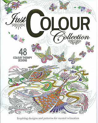 Just Colour collection-Therapy Anti-Stress Adult Colouring Book for relaxation