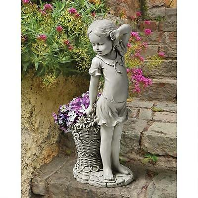 New Design  Toscano 'Frances The Flower Girl' Garden Statue / Ornament
