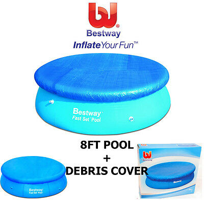 Bestway 8Ft Quick Up Pool Fast Set Swimming Paddling Pool Includes Debris Cover