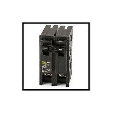 New Square D HOM2100CP Homeline 100-Amp Two-Pole Circuit Breaker