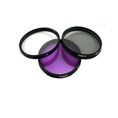 72 72mm 3 Piece Multi Coated Filter Kit UV + CPL + FLD
