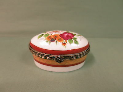 Porcelain Trinket Pill Box
