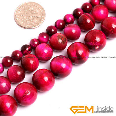 """Pink Tiger's Eye Gemstone Round Beads For Jewelry Making 15"""" 6mm 10mm 12mm Pick"""