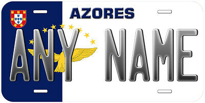 Azores Flag Any Name Personalized Novelty Car License Plate