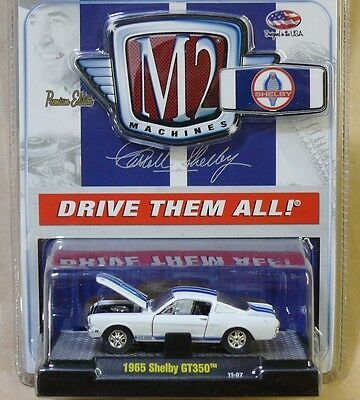 1965 Shelby Mustang GT350 Fastback WHITE 1:64 Scale M2