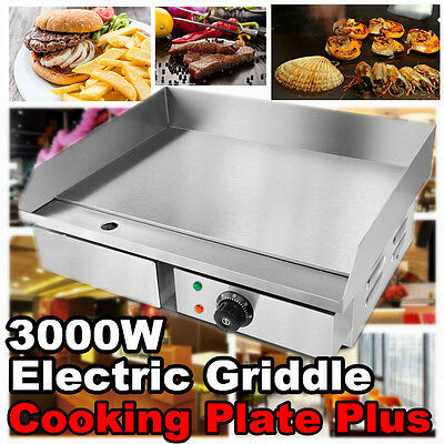 55cm wide Commercial Stainless Steel Electric Griddle Flat Hotplate Grill 3000W