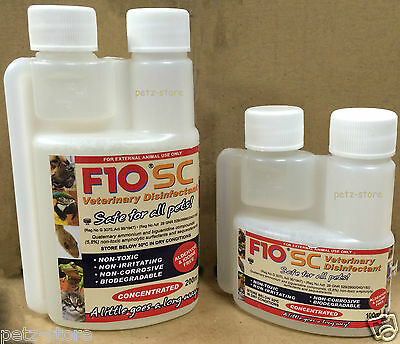 F10 Veterinary Disinfectant concentrate Pet Dog cat bird parrot Whelping box