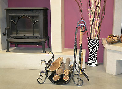 Fire Companion Set Fireplace Fireside Tools Accessories wrought iron 5 pcs L802