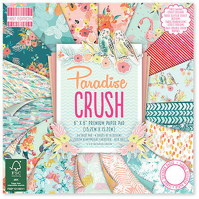 First Edition 6x6 FSC Paper Pad Paradise Crush Sample Pack 1 of each design