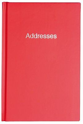 Red A5 Hardback Name Address & Telephone Numbers Index Record Book EL4