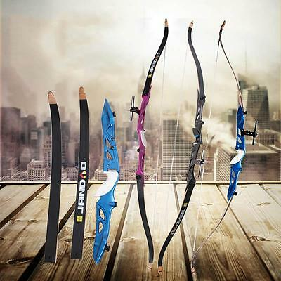 """Archery Alloy Riser Take Down Recurve Bow Set 70"""" Hunting Longbow Practice Games"""