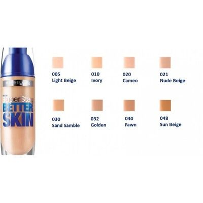 Maybelline Superstay Better Skin Foundation 30mL - Choose Your Shade