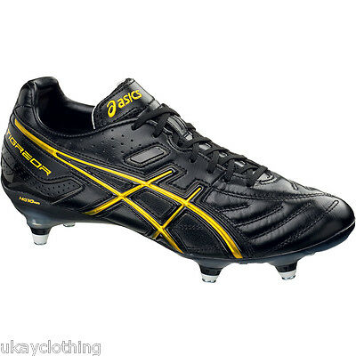 Asics Men's Lethal Tigreor 3 ST Rugby Boot Black yellow