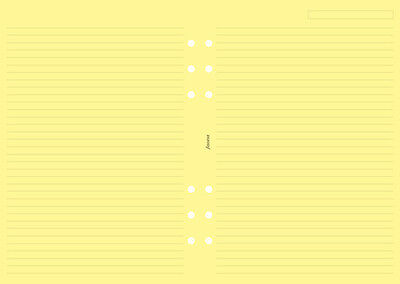 Filofax A5 Size Yellow Ruled (Lined) Notepaper Sheets Insert Refill 343010