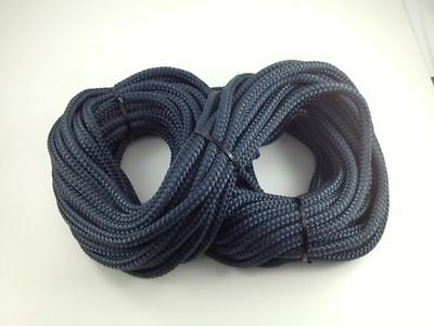 Quality Double Braid on Braid Polyester Rope All Sizes 10 12 14  & 16mm Navy New