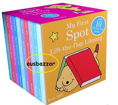 My First Spot Lift the Flap Library 10 Board Books Set Collection Eric Hill
