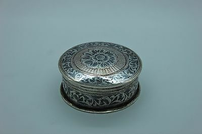 Antique Original Handmade Ottoman Silver Niello Amazing Box