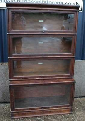 Good 1900's Oak 4 Stack Globewornicke with Glass fronted Display sections.
