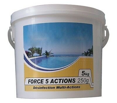 chlore 5 actions TIBE 5 kg galet 250 grammes