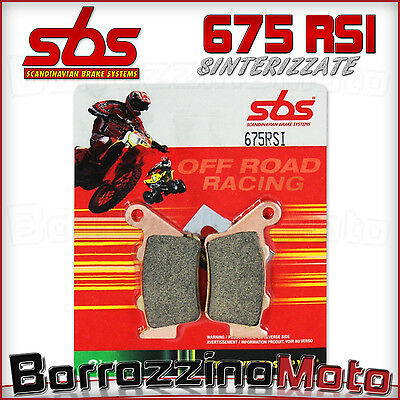 Pastiglie Freno Posteriori Sbs 675Rsi Racing Ktm Super Duke 990 2005