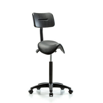 Perch Chairs & Stools Height Adjustable Saddle Stool with Back PCHS1065