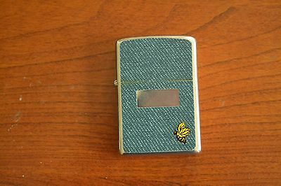 ZIPPO Lighter, Denim with Bumble Bee, 1977, Unfired?, M190