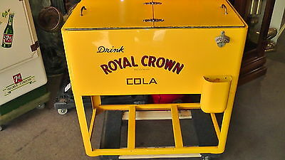 Vintage Mid-Century Royal Crown Cola Ice Chest w/Stand