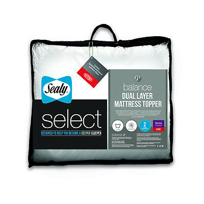 Sealy Select Balance Dual Layer Mattress Topper - Single Double King or SK