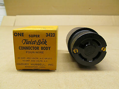 1 Nib Hubbell 3423 Hbl3423 Armored Connector Body 20A 4W 250V