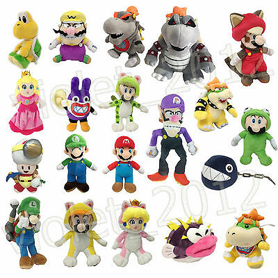 New Super Mario Bros. Luigi Bowser Plush Character Soft Toy Stuffed Animal Doll