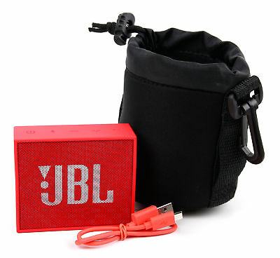 Jet Black Neoprene Pouch Case in Small for the JBL GO Portable Bluetooth Speaker