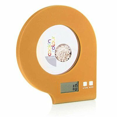 Cook Incolour MCK22004 LCD Digital Glass Kitchen Stylish Dome Scale Orange 5kg