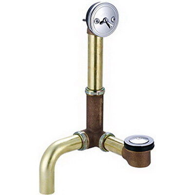 """Central Brass 1675-S Multi-Tub Pop-Up Bath Drain With Side Outlet, 1-1/2"""" Pipe"""