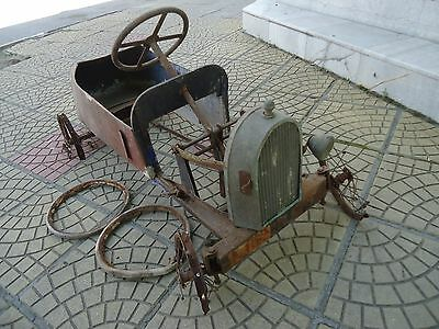 Very rare metal pedal car Bugatti 1920's