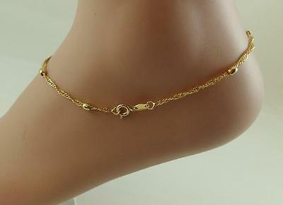 New high quality18K gold filled beaded oval balls anklet !